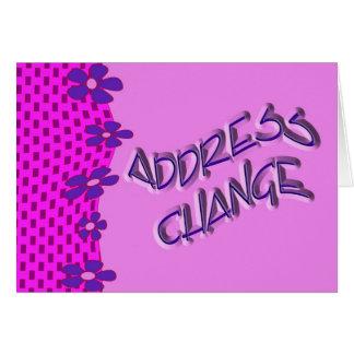 Address change greeting card