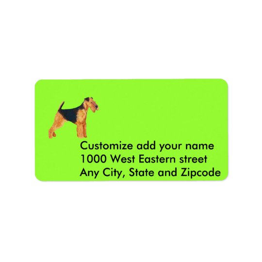 Address Label - Airedale Terrier