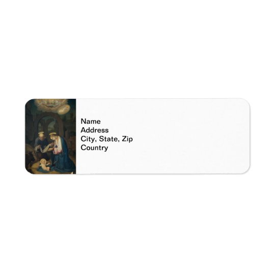 Address Label: Birth of Christ Return Address Label