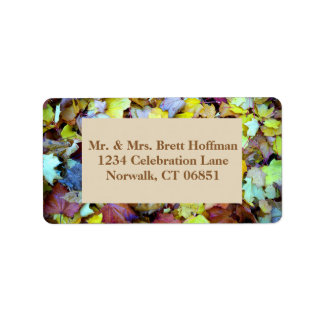 Address Label for Fall Leaves Collection