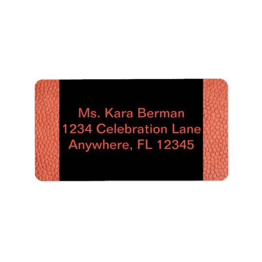 Address Label for Hoops Collection