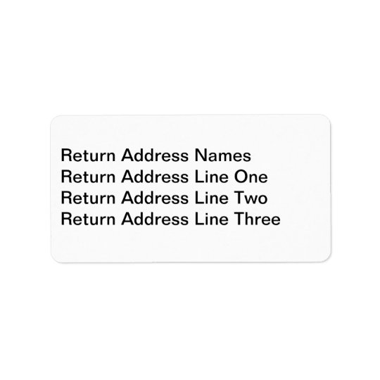 Address label for RSVP card envelopes