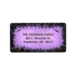 Address Label - Halloween Purple with Black Border