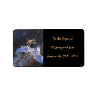 ADDRESS LABEL - HONEYBEE ON A SPIDERWART