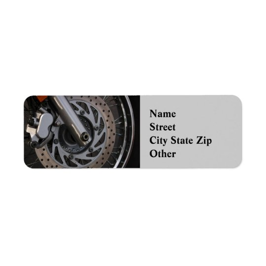 Address Label  Motorcycle Wheel