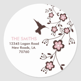 Address Label Round Sticker