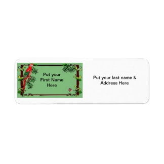 Address Label-Tropical Parrot Return Address Label