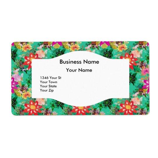 Address Label Vintage Retro Floral