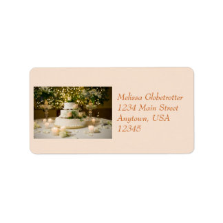 Address Label--Weddding Cake Address Label