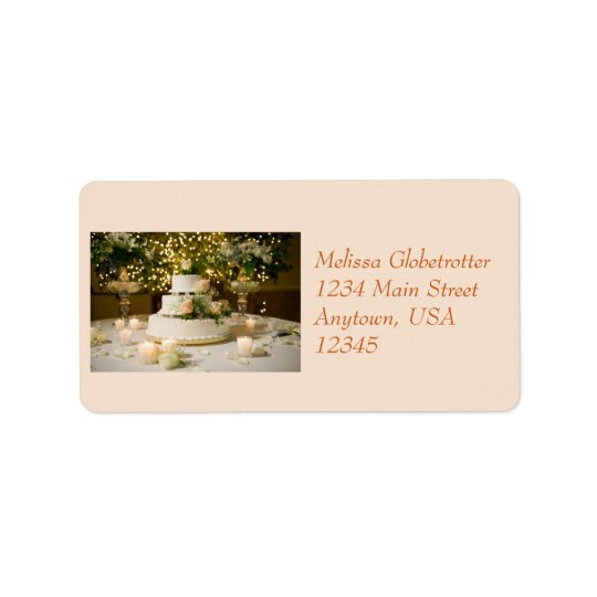 Address Label--Weddding Cake Label