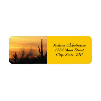 Address Labels--Arizona Sunset-3 Return Address Label