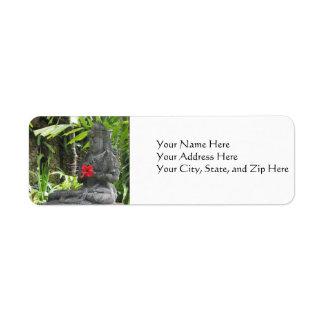 Address Labels:  Bali Stature Return Address Label