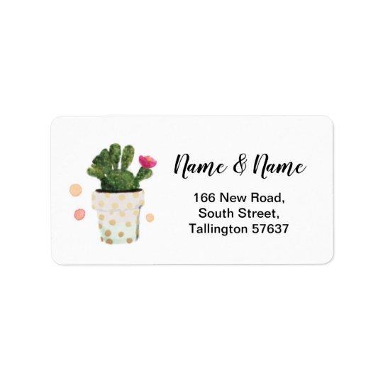 Address Labels Cactus Polka Dot Pretty Stickers