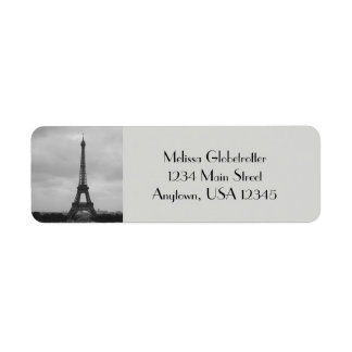 Address Labels--Eifel Tower Return Address Label