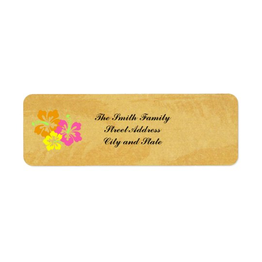 Address Labels:  Hibiscus Address Labels