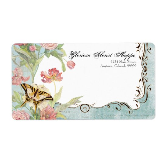 Address Labels - Les Fleur Pavoine - Wedding