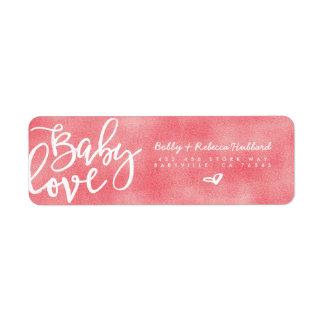 ADDRESS LABELS | Modern Pink Baby Girl Love Script