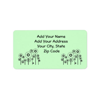 Address Labels, pale green Daisies on pale green Address Label