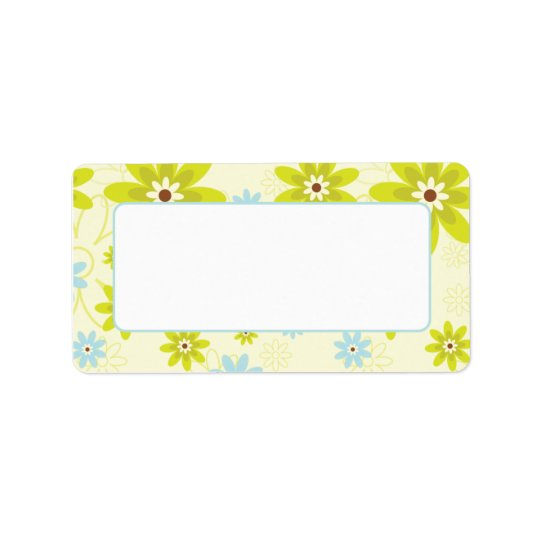 Address Labels Retro Funky Floral