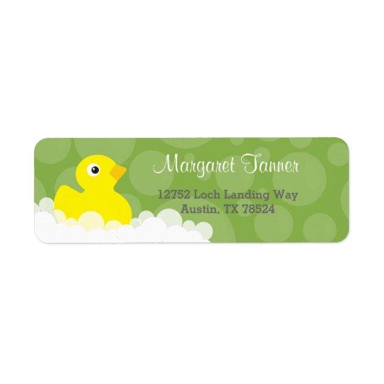 Address Labels - Rubber Ducky Design - Green