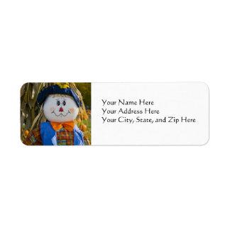 Address Labels:  Scarecrow Return Address Label