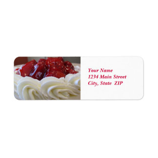Address Labels--Strawberry Cake Return Address Label