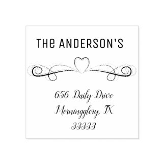 Address rubber stamps