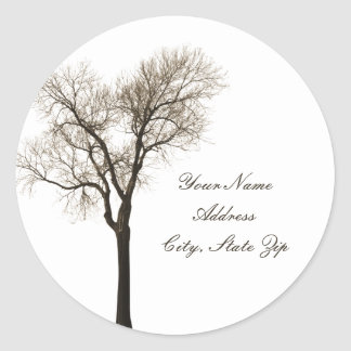 Address Sticker - Bare Tree Silhouette