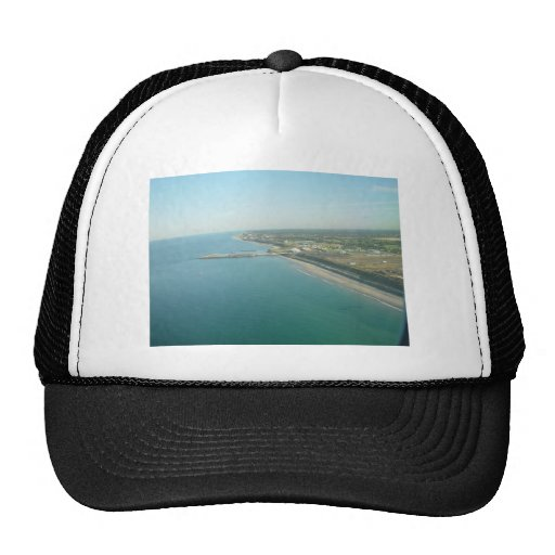 Adelaide Coastline With Marina At South Australia Trucker Hat