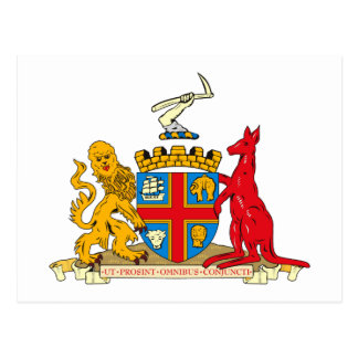 Adelaide Coat of Arms Postcard