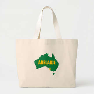 Adelaide Green and Gold Map Canvas Bag