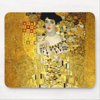 Adele Bloch-Bauer I by Gustav Klimt Art Nouveau Mouse Pad