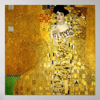 Adele Bloch-Bauer I by Gustav Klimt Poster Print