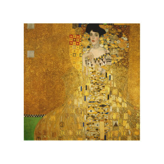 Adele Bloch-Bauer I by Gustav Klimt Wooden Print Wood Canvases
