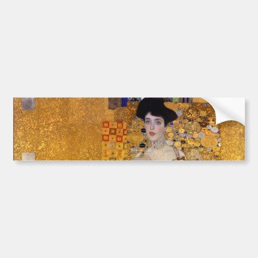 Adele Bloch-Bauer's Portrait by Gustav Klimt 1907 Bumper Sticker