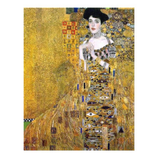 Adele Bloch-Bauer's Portrait  by Gustav Klimt 21.5 Cm X 28 Cm Flyer