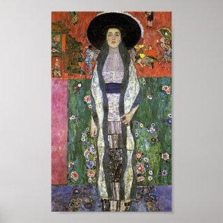 Adele Bloch by Gustav Klimt art nouveau art Poster