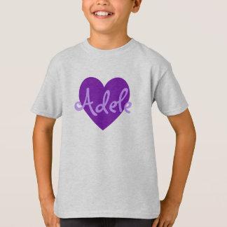 Adele in Purple T-Shirt