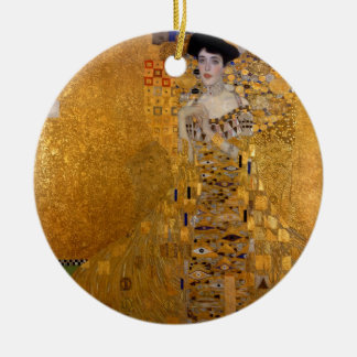Adele, The Lady in Gold - Gustav Klimt Ceramic Ornament
