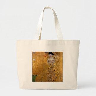 Adele, The Lady in Gold - Gustav Klimt Large Tote Bag