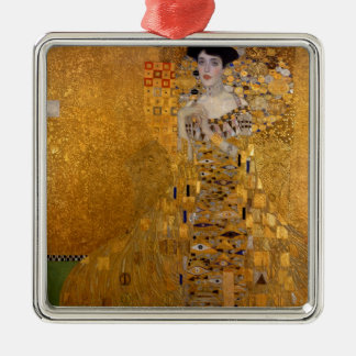 Adele, The Lady in Gold - Gustav Klimt Metal Ornament