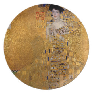 Adele, The Lady in Gold - Gustav Klimt Plate