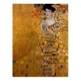 Adele, The Lady in Gold - Gustav Klimt Postcard
