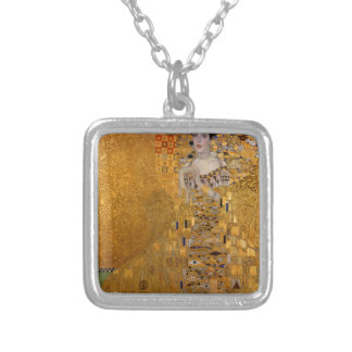 Adele, The Lady in Gold - Gustav Klimt Silver Plated Necklace
