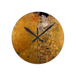 Adele, The Lady in Gold - Gustav Klimt Wallclocks