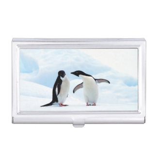 Adelie Penguins Business Card Holder