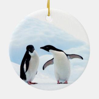 Adelie Penguins Ceramic Ornament