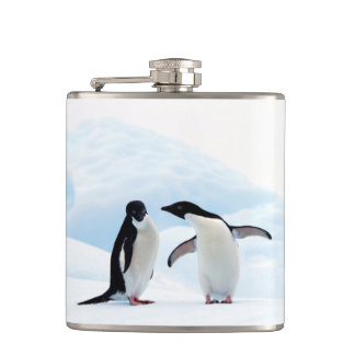 Adelie Penguins Hip Flask
