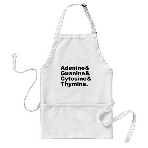 Adenine Guanine Cytosine Thymine DNA Nucleotides Apron