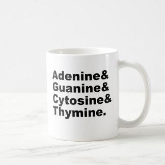 Adenine Guanine Cytosine Thymine DNA Nucleotides Coffee Mug
